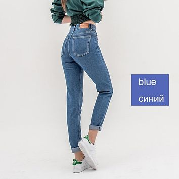 luckinyoyo jean woman mom jeans pants boyfriend jeans for women