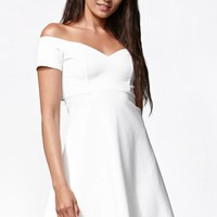 Kendall & Kylie Off-Shoulder Cutout Dress - Womens Dress - White