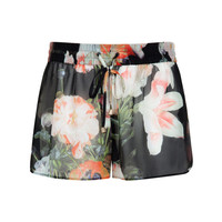 Opulent Bloom print shorts - Black | Swimwear & Beachwear | Ted Baker