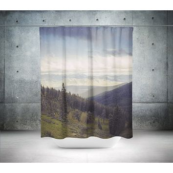 Mountains Forever, Scenic Shower Curtain