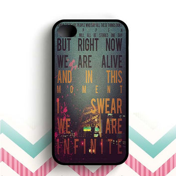 And In That Moment I Swear We Were Infinite The Perks of Being a Wallflower Retro  iPhone 4 and 4s case