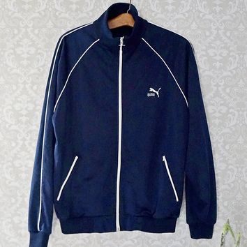 Vintage 1980s Old School + Track Jacket