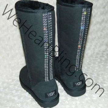 ICIK8X2 100% Genuine Swarovski Crystal UGG Boots All Sizes Available