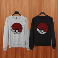 District Pokemon sweater Black/Gray/Blue/Orange/Red/Yellow Sweatshirt Crewneck Men or Women Unisex Size