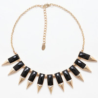 Hidden Gem Necklace - Black