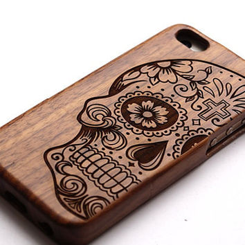 skull case Carving wood case Wood iPhone 6 case, waves of the sea iphone 6plus wood case, iphone 5 case, iphone 5c case,iphone 4 case Samsung Galaxy S3,S4,S5,S6 Samsung Galaxy Note2 , 3 ,4 case