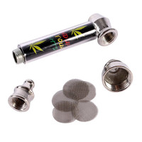 New Metal Pipe Jamaica Rasta Tobacco Smoking Pipes Mill Smoke Detectors Useful Tools
