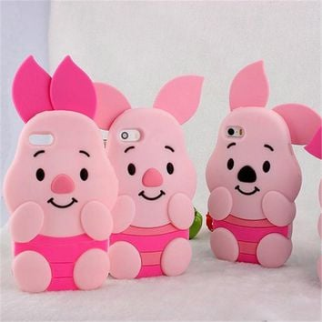 3D Piglet Soft Silicone Phone Cases