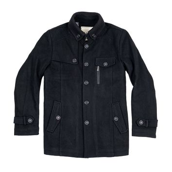 The Wilson Mandarin Short Trench Black