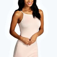 Millie High Neck Mini Bodycon Dress