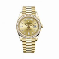 Rolex Day-Date 40 228348RBR Gold Watch (Champagne Set with Diamonds) | World's Best
