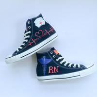 Custom Hand Painted Nurse or Doctor Converse