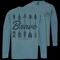 Couture Priority Brave Arrows Comfort Colors Unisex Long Sleeve T-Shirt