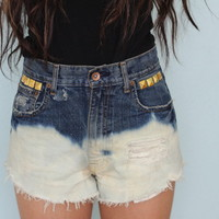 Ombre blue highwaisted shorts