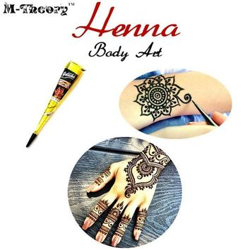 ac DCCKO2Q Women Fashion Mehndi Henna Cone Indian Wedding Temporary Tattoo Makeup Tool Waterproof 100% Safe