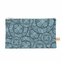 "Maike Thoma ""Layered Circles Design"" Blue Floral Everything Bag"