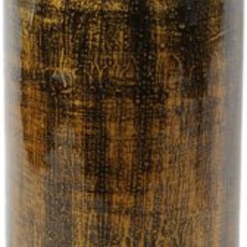 Essential Décor Entrada Collection Lacquer Bamboo Vase with Bubbles Accent, 21.25 by 7.08-Inch, Copper