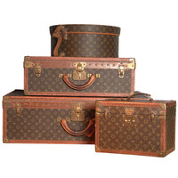 'Louis Vuitton', 20th century. A set of four hardsided luggage cases