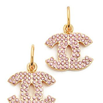 Chanel Crystal CC Dangle Earrings (Previously Owned)