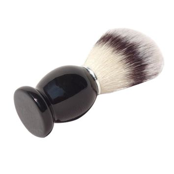 Shaving Brush Barber Beard Care Tool with Black Wood Handle Synthetic Hair