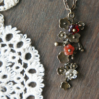 Foxglove Necklace - Ruby