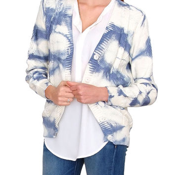 Into The Sky Cardigan - Ivory Print