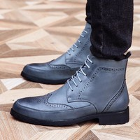 Men's Brogue Ankle Boots
