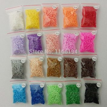 2.6mm mini hama beads 20 bags 500pcs/bag 100% quality guarantee perler beads fuse beads PUPUKOU