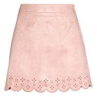 Imitation Suede Skirt - from H&M