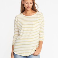 Loose Sweater-Knit Jersey Top | Old Navy