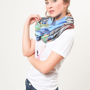 Feather Infinity Scarf
