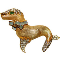 Kenneth Lane Brooch, K.J.L., Circus Seal, Rare, Collectible, Signed, 1960s