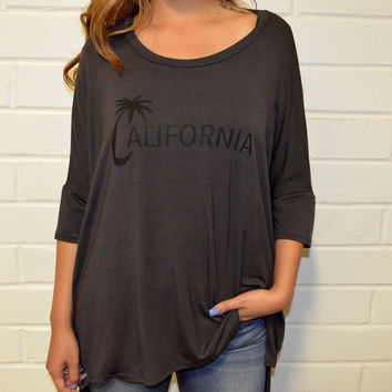 Women's Tee- Boxy California