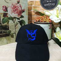 Pokemon Hats Ash Ketchum Cosplay Pokémon Go,Team Blue Pokemon Go, Team Mystic, Mystic hat Baseball Cap Low Profile, Instagram Tumblr