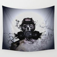 Zombie Warrior Wall Tapestry by Nicklas Gustafsson
