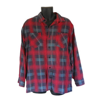 Red Flannel Shirt Green Flannel Shirt Blue Flannel Men Flannel Shirt Plaid Flannel Shirt Distressed Flannel 90s Flannel Lumberjack Shirt