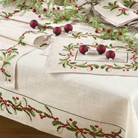 Embroidered Holly Collection
