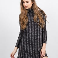 Chunky Marled Turtleneck Dress