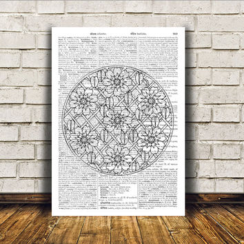 Mandala poster New Age print Wall decor Sacred Geometry art RTA180