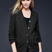 Gap Women Honeycomb Cable Knit Cardigan