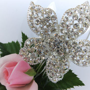"Crystal Bridal Hair Comb ""Predatory Flower"",  Wedding Hair Pieces, Rhinestone Combs, Wedding Hair Accessories, Bridal Headpieces"