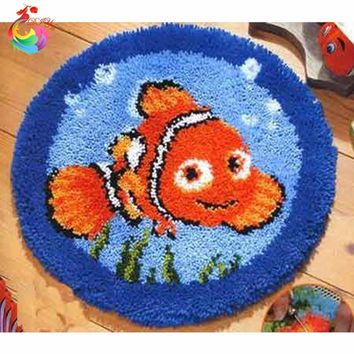 Needlework carpets and rugs Knitting needles cross-stitch kits set for embroidery stitch thread Latch hook rug kits Cartoon Fish