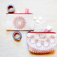 Make Up Bag/ Gift for Her/ Gift for Mom/ Best Friend Gift/ Coin Purse/ Graduation Gift/ Wife Gift/ Mothers Day Gift/ Pouch/ Teacher Gift