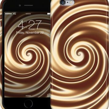 Chocolate milk cocktail spiral iPhone Cases & Skins by Natalia Bykova | Nuvango