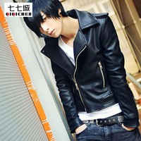new Spring Leather Jacket for Men size sml