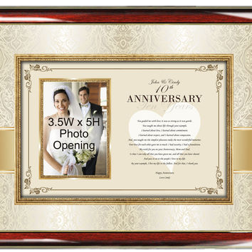 Parents Anniversary Picture Photo Frame
