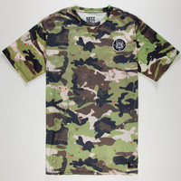 Neff Ranger Camo Mens T-Shirt Camo Green  In Sizes