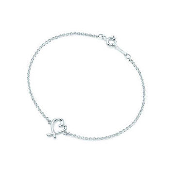 Tiffany & Co. - Paloma Picasso® Loving Heart tag bracelet in sterling silver, small.