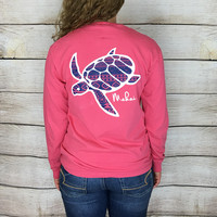 Coral Pocketed Aztec Print