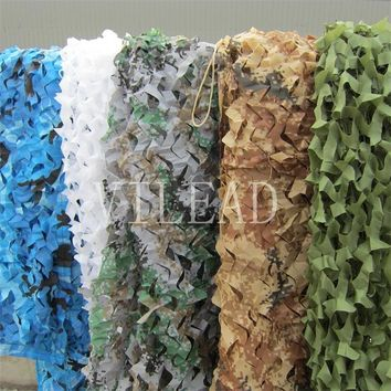 VILEAD 9 Colors 2.5M*6M Camouflage Net Camo Net Stealth Net for Party Decoration Hallowmas Decor Paving Mosaic Beach Tent